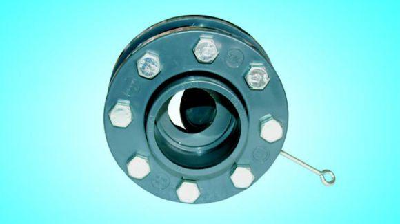 Обратный клапан с фланцами язычковый д.90 (2730090)